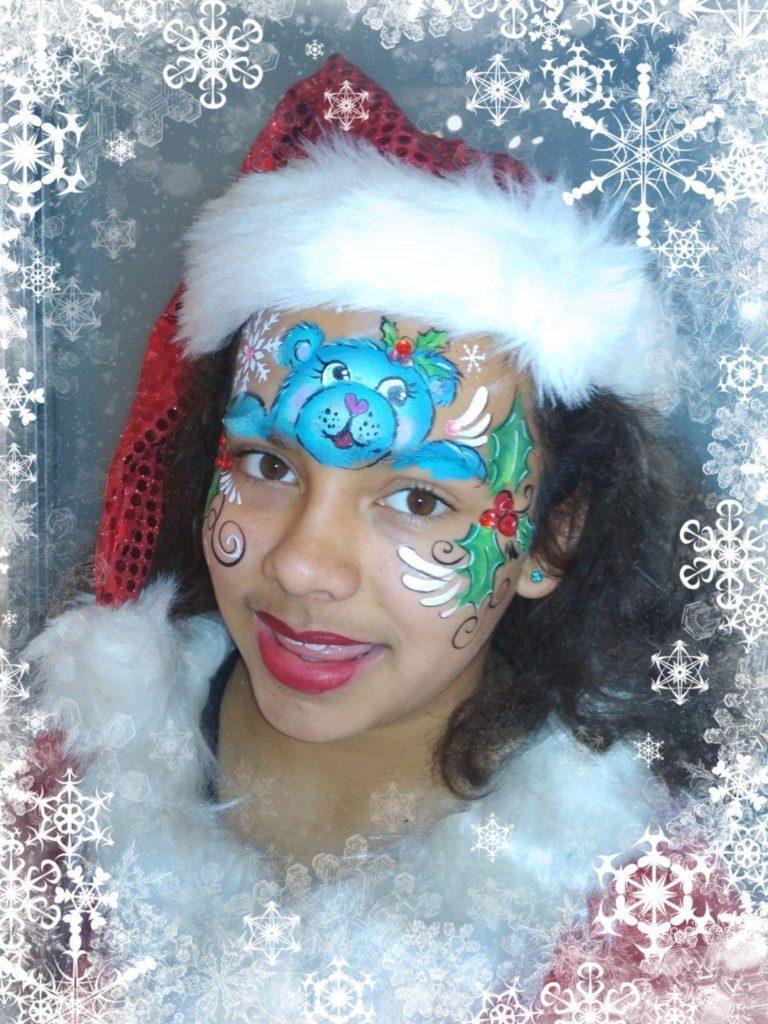 Ein frohes Weihnachtsfest wünscht Happy-Faces-Kinderschminken